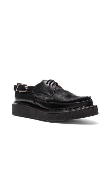 Comme Des Garcons Homme Plus Pony Hair George Cox Shoes in Black