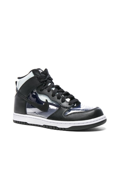 Comme Des Garcons Homme Plus Nike PVC High-Top Sneakers in Black