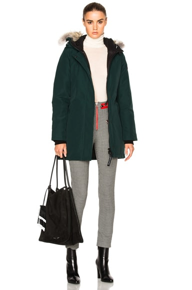 Canada Goose Victoria Parka with Coyote Fur in Alonquin Green