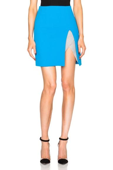 Christopher Esber Contoured Slit Mini Skirt in High Blue