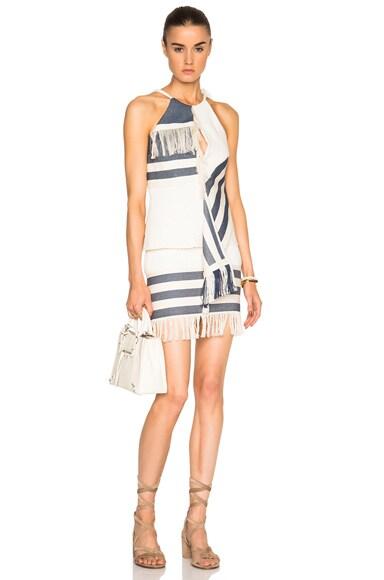 Tailored Tassel Mini Skirt