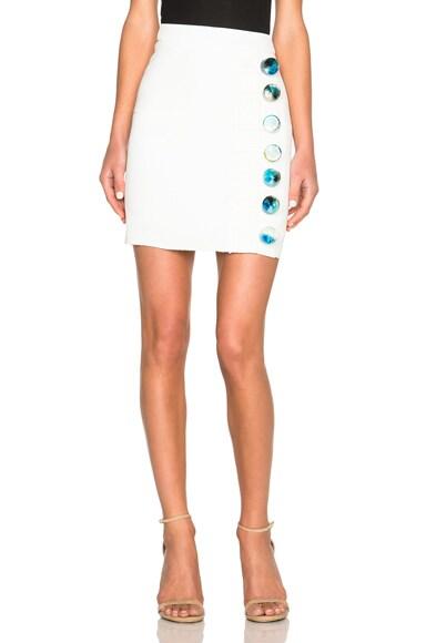 Christopher Esber Looped Elemental Mini Skirt in White & Water Resin
