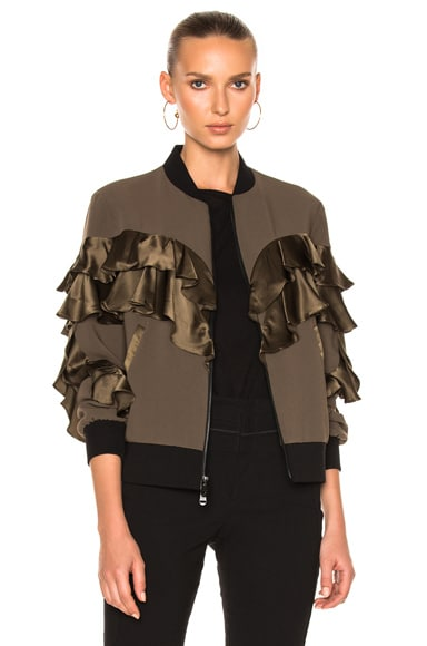 Cinq a Sept Leia Jacket in Olive