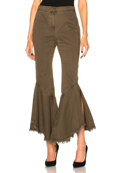 Cinq a Sept Wysteria Pant in Olive