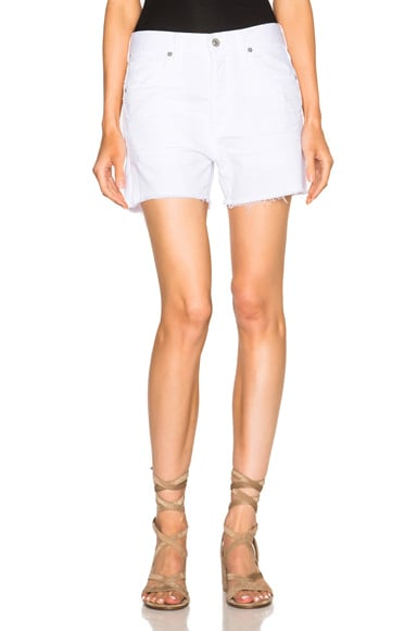Citizens of Humanity Corey Shorts in Distressed White