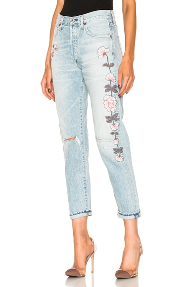 Citizens of Humanity Liya High Rise Classic Crop in Distressed