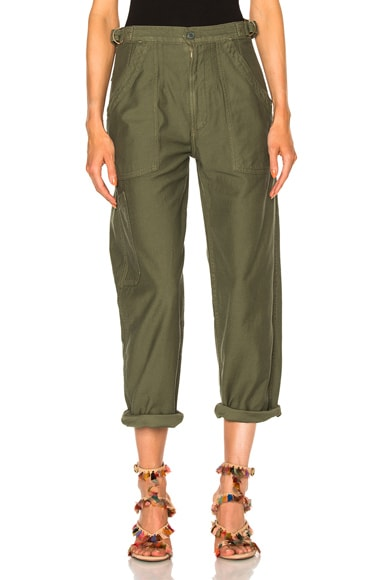 Citizens of Humanity Kendall Wide Leg Pant in Sergeant Green