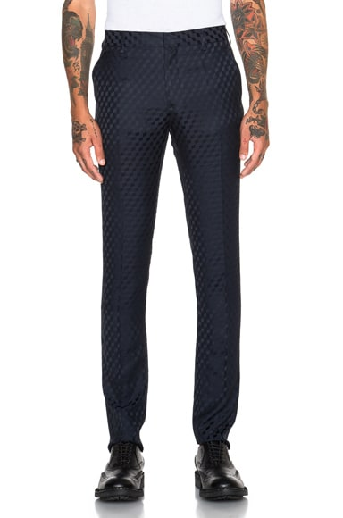 Christopher Kane Classic Tailored Small Cube Trousers in Navy