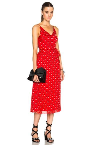 Christopher Kane Love Heart Strappy Dress in Red