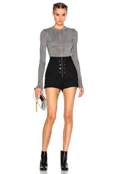 Lurex Long Sleeve Sweater