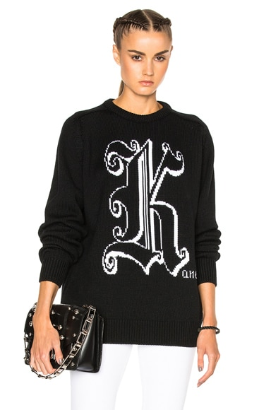 Christopher Kane Crewneck Sweater in Black