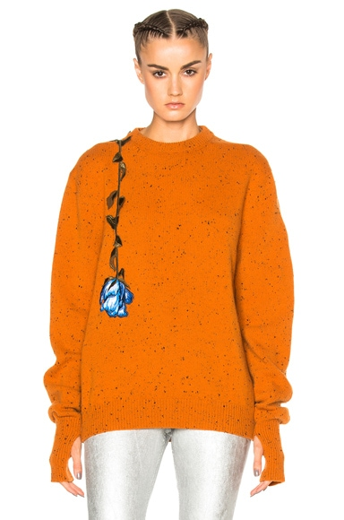 Christopher Kane Lost & Found Crewneck Jumper in Orange