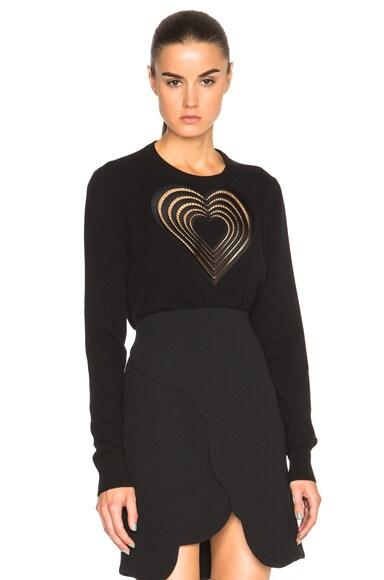Christopher Kane Heart Sweater in Black