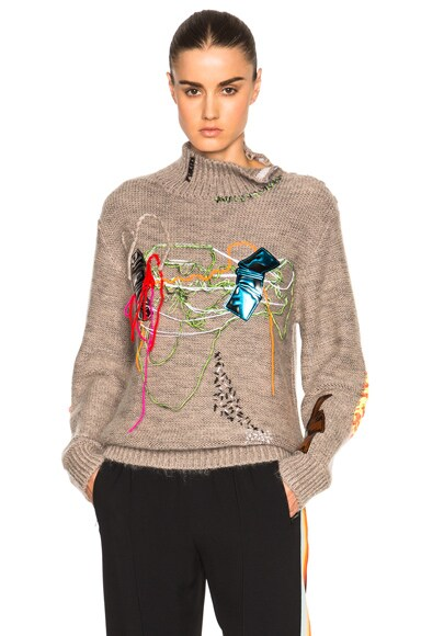 Christopher Kane Sewing Class Sweater in Putty
