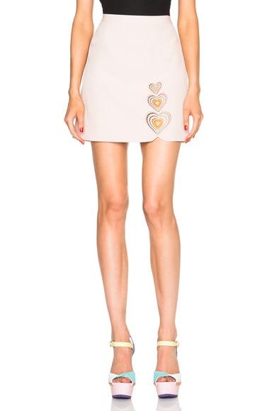 Christopher Kane Heart Mini Skirt in Nude
