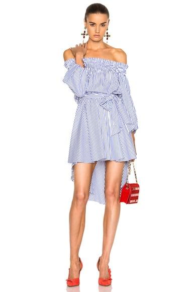 Caroline Constas Lou Dress in Royal Blue