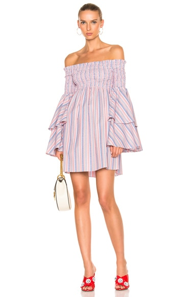 Caroline Constas Appolonia Dress in Red Multi
