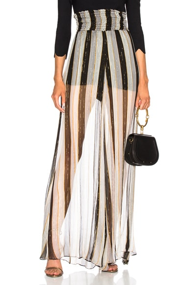 Sheered Wide Leg Pants