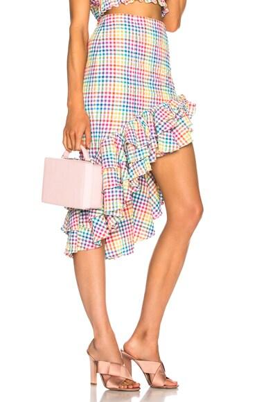 Pencil Ruffle Skirt