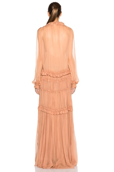 Silk Crepon Gown