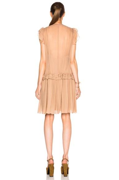 Silk Crepon Mini Dress