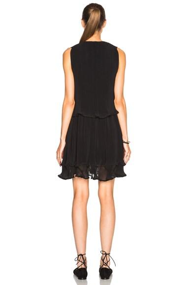 Pleated Georgette Sleeveless Dress