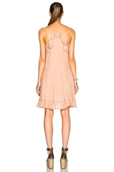 Gauzy Linen Ruffle Mini Dress
