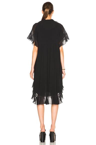 Cotton Crepon Gauze Ruffle Dress