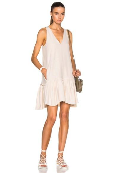Chloe Light Cady Dress in Vanilla