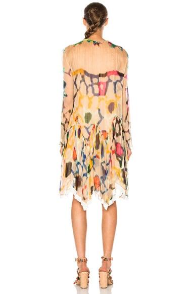 Technicolor Ink Blot Print Dress