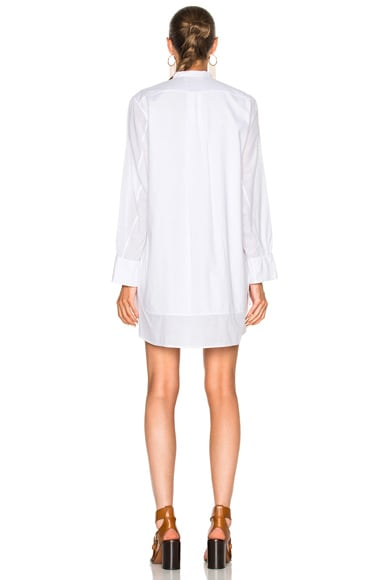 Light Cotton Voile Button Detail Shirt Dress