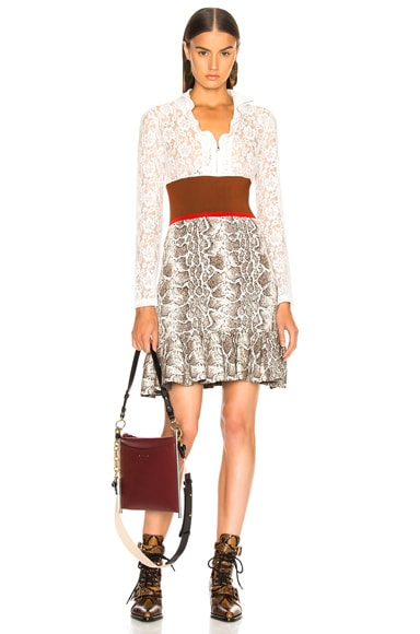 Lace Top Mini Dress