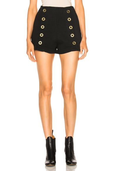 Chloe Punto Milano Wool Shorts in Black