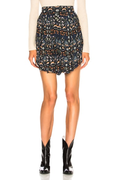 Blossom Print Viscose Georgette Flowy Shorts
