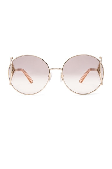 Chloe Jackson Sunglasses in Gold & Peach