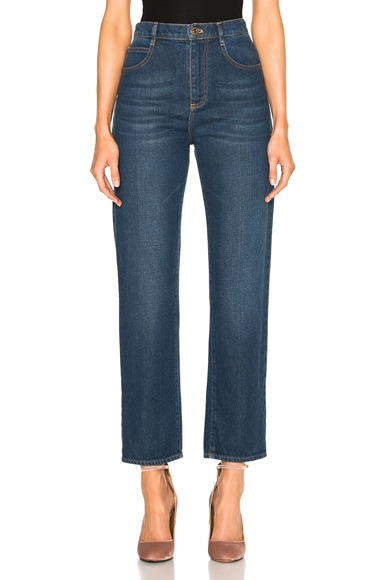 Chloe Classic Denim Pants in Blue