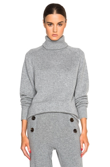 Chloe Iconic Cashmere Turtleneck in Pearl Grey