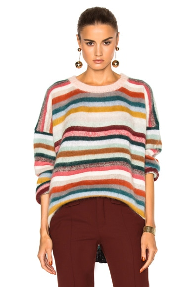 Chloe Brushed Mohair Sweater in Pastel Multi