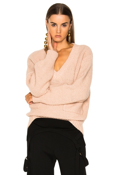 Chunky Stitch V-Neck Sweater Chloe