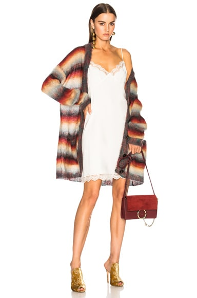 Striped Brushed Mohair Cardigan