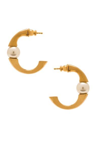 Darcey Round Pierced Small Hoop Earrings