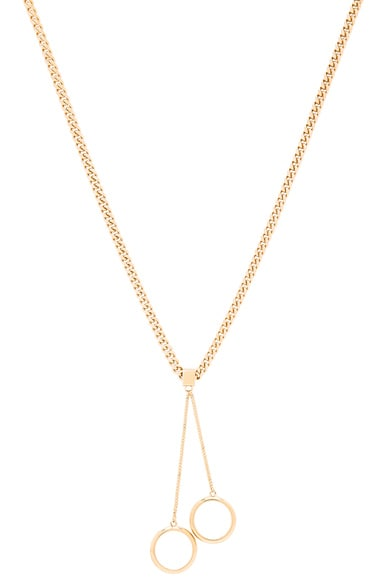 Chloe Carly Pendant Necklace in Gold