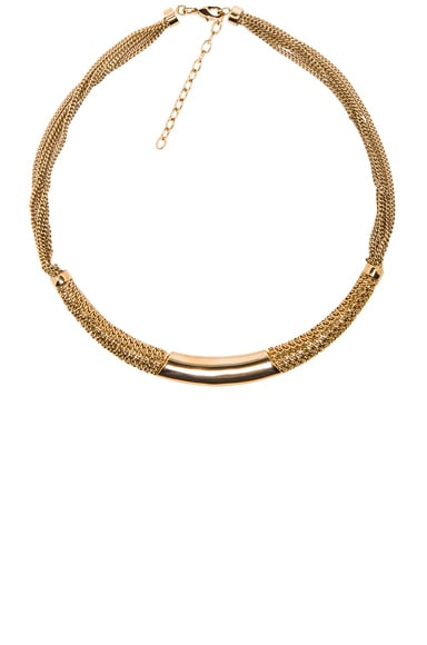 Chloe Hope Semi Rigid Necklace in Gold