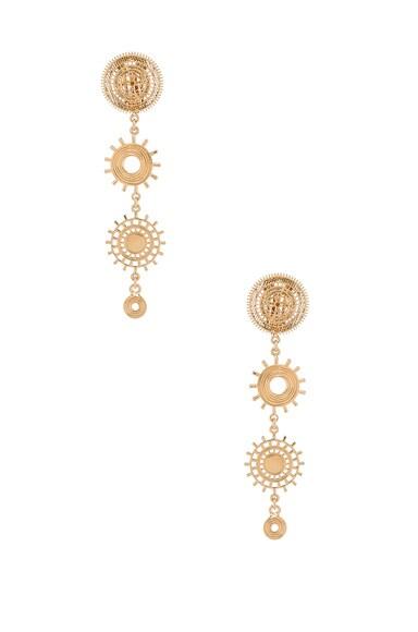 Chloe Isaure Clip Earrings in Gold