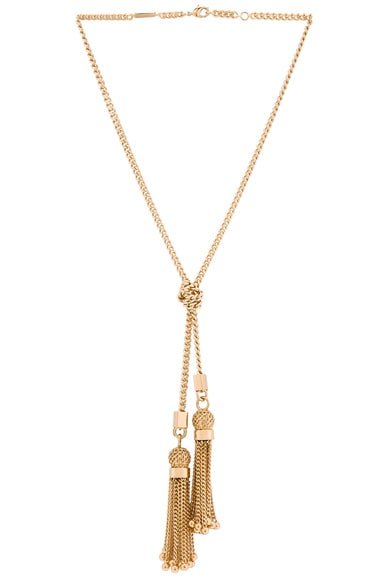 Chloe Lynn Short Necklace in Golden Brass