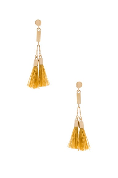 Chloe Lynn Earrings in Mustard
