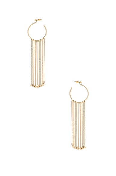 Chloe Meg Dangling Earrings in Gold