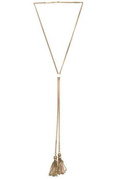 Chloe Monroe Long Necklace in Gold