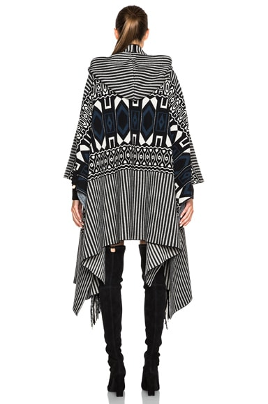 Felted Graphic Poncho