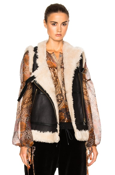 Shearling Flying Vest